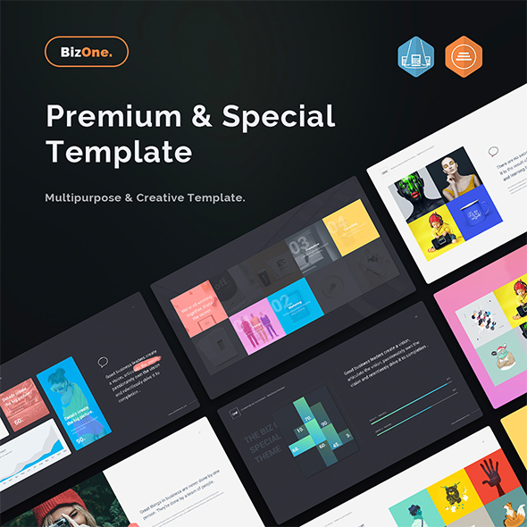 BizOne Creative & Multipurpose Powerpoint Template - Creative PowerPoint Templates