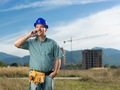 happy engineer talking on phone - PhotoDune Item for Sale