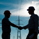electricity station handshake - PhotoDune Item for Sale