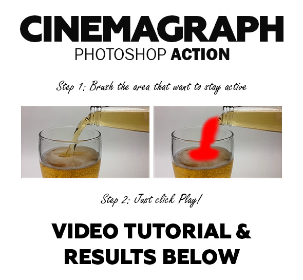 Cinemagraph Photoshop Action - Photo Effects Actions