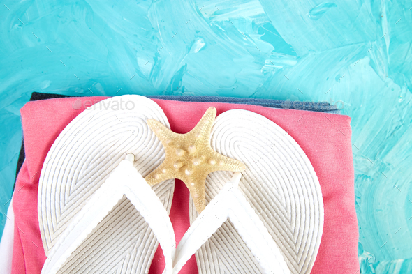Set of Woman's things accessories summer season. - Stock Photo - Images