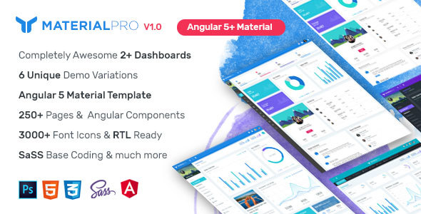 MaterialPro Angular 5+ Admin Template - Admin Templates Site Templates
