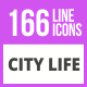 166 City Life Line Icons - GraphicRiver Item for Sale