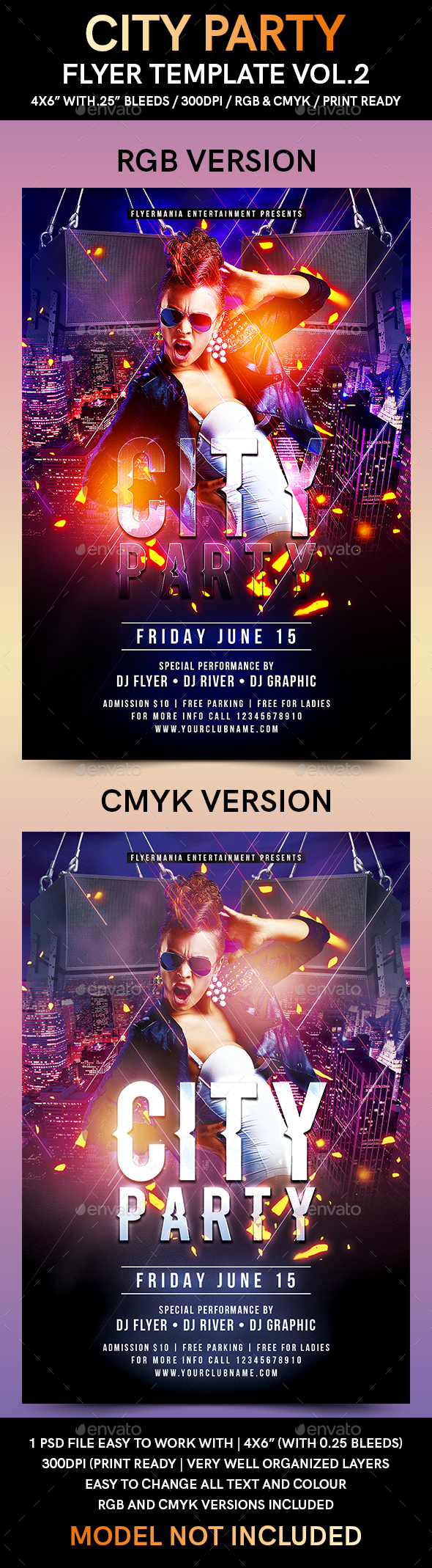 City Party Flyer Template Vol.2 - Flyers Print Templates
