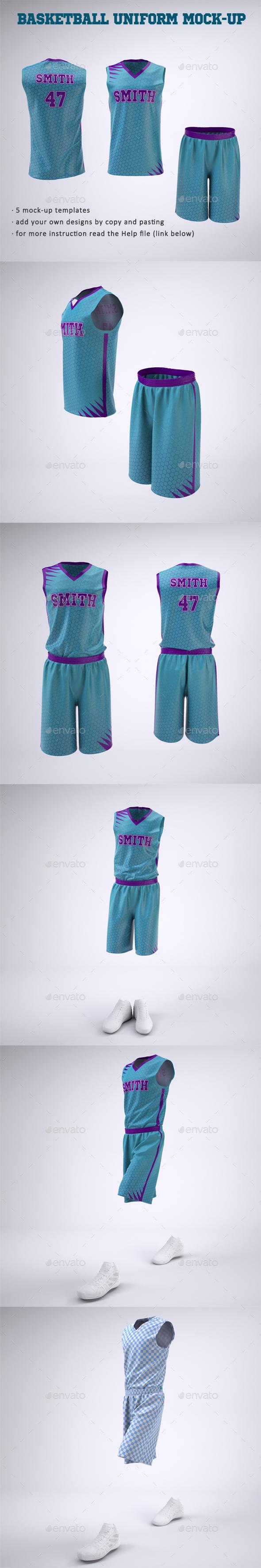 Basketball Jersey and Shorts Uniform Mock-Up - Apparel Product Mock-Ups
