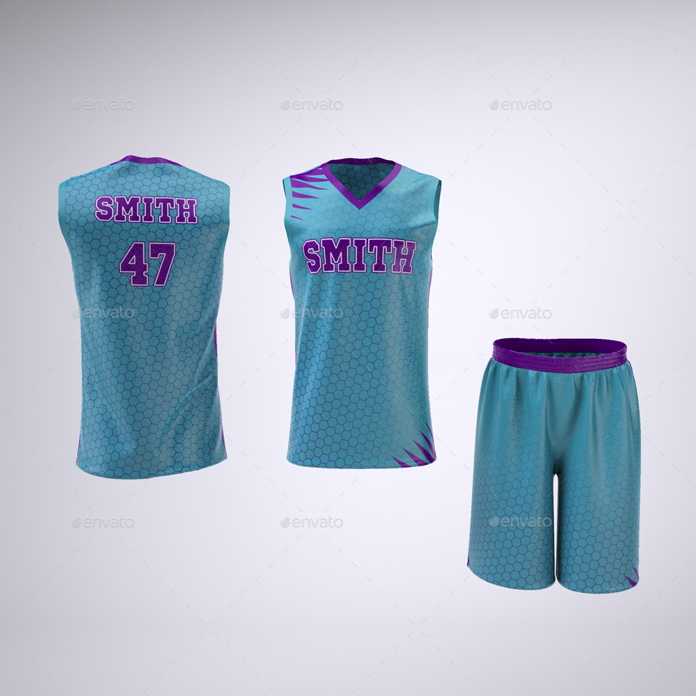 online store dc046 249d0 Basketball Jersey and Shorts Uniform Mock-Up