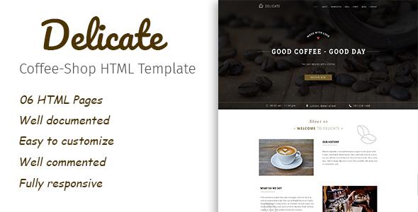 Image of Delicate | Multipurpose Coffee Restaurant HTML Template