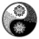 Yin and Yang Tao Floral Decorative Symbol