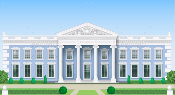 The Classic Facade of a Public Building - Buildings Objects