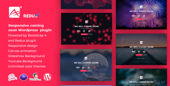 A3    Coming Soon CountDown Responsive Wordpress Plugin - CodeCanyon Item for Sale