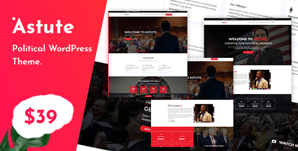 Image of Astute - Political Responsive WP theme