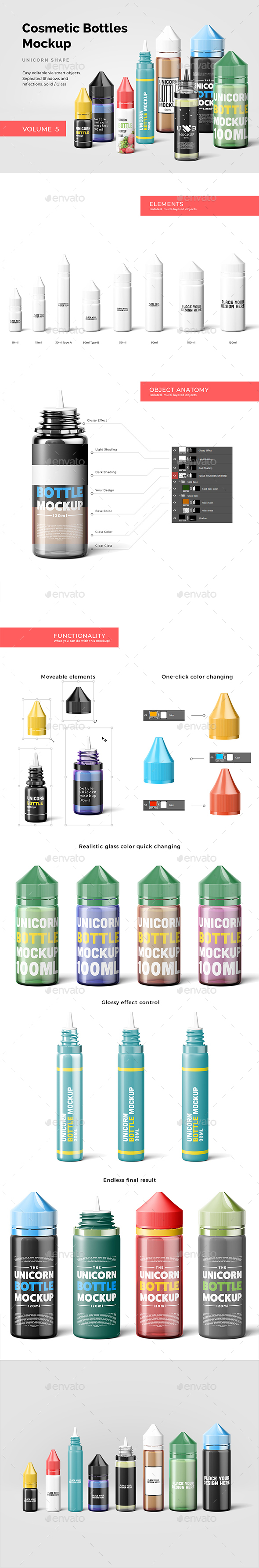 Cosmetic Bottles Mockup Vol.5 - Beauty Packaging