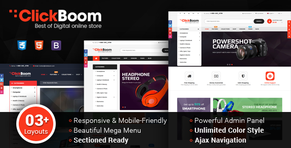 ClickBoom - Responsive Multipurpose Shopify Theme (Sections Ready)