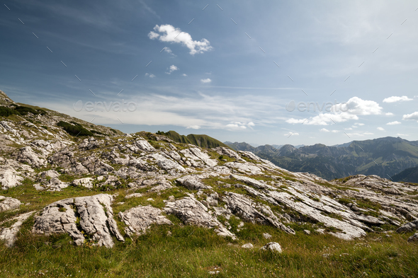 blue sky in mountains - Stock Photo - Images