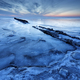 old wooden breakwater on frozen coast - PhotoDune Item for Sale
