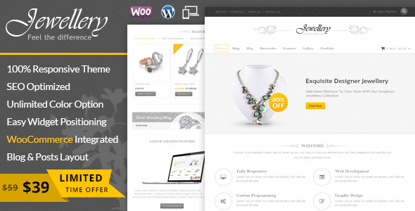 20+ Jewelry WordPress Themes 2019 8