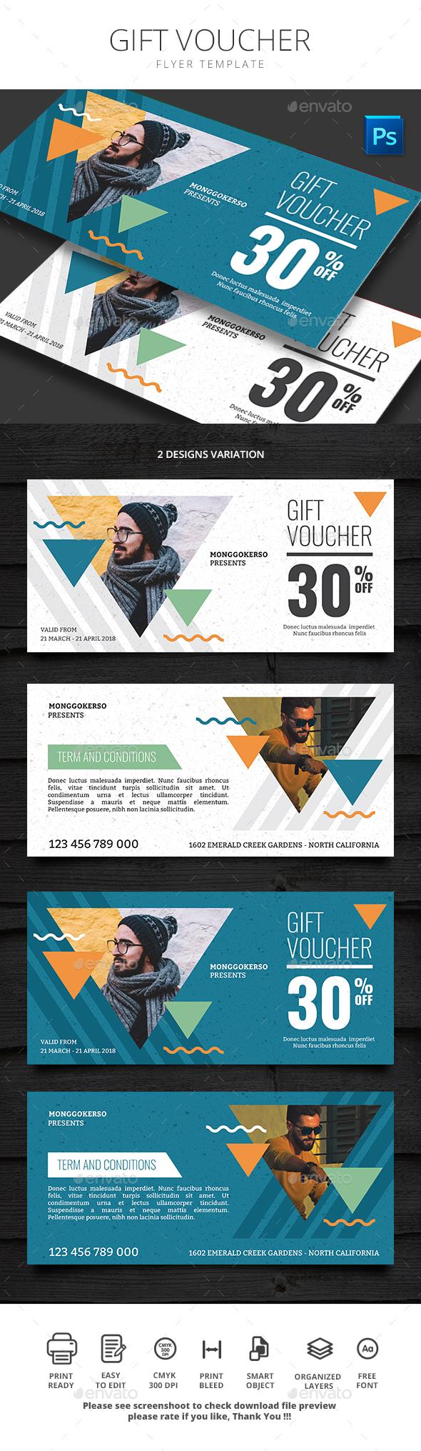 Gift Voucher - Flyers Print Templates