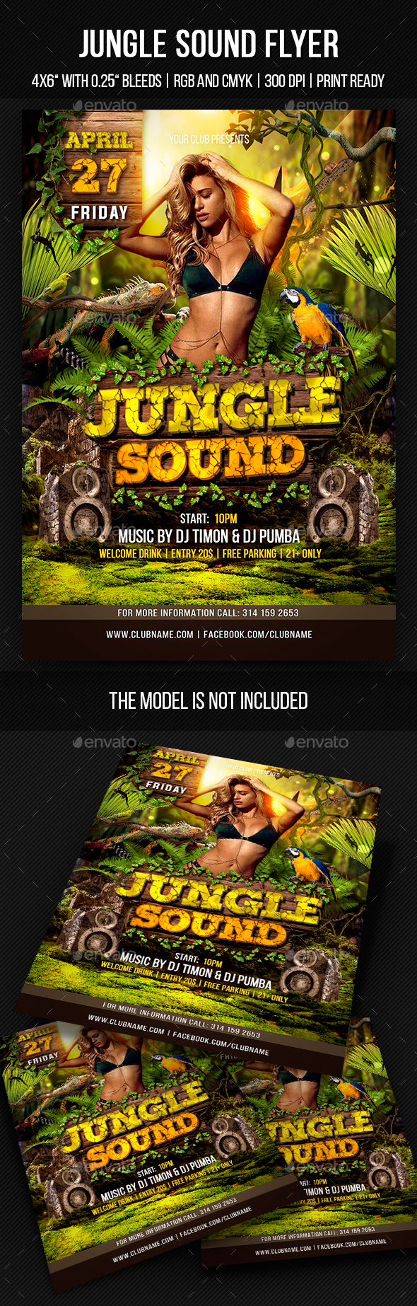 Jungle Sound Party Template - Clubs & Parties Events