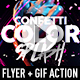 Confetti Color Splash Flyer + GIF Animation Action - GraphicRiver Item for Sale