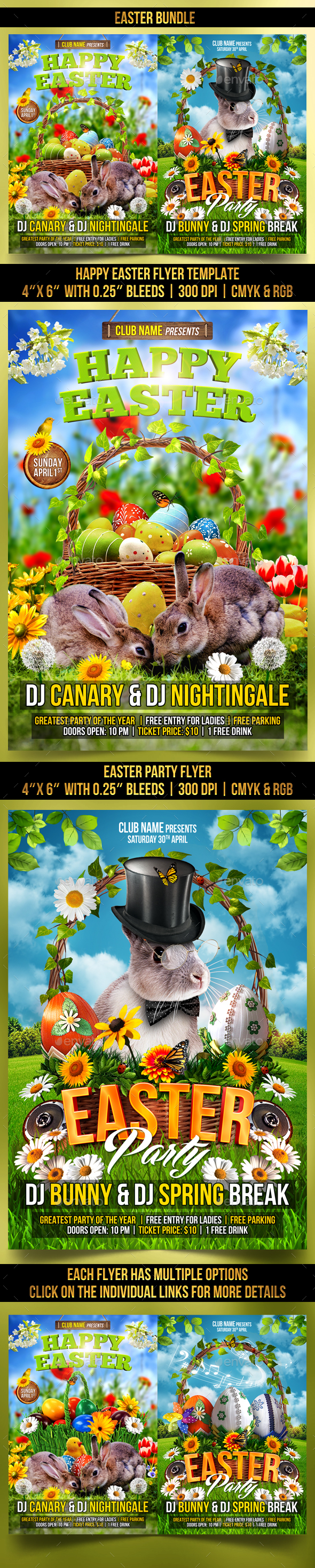 Easter Bundle - Clubs & Parties Events