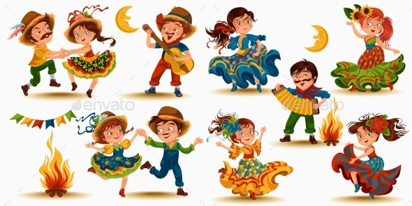 Young People Dancing - People Characters