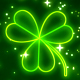 Neon Clover Leaves Falling Background - VideoHive Item for Sale