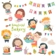Cartoon Children and Sweets - GraphicRiver Item for Sale