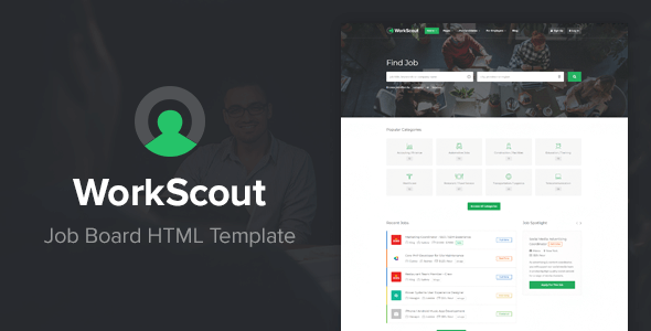 WorkScout - Job Board HTML Template - Business Corporate
