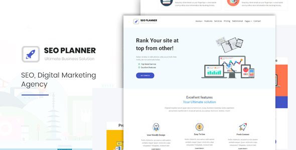 Seoplanner-Digital Marketing Agency - Technology Site Templates