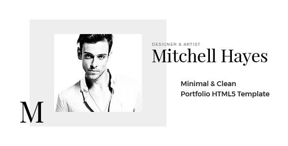 Mitchell Hayes – Portfolio HTML5 Template - Portfolio Creative