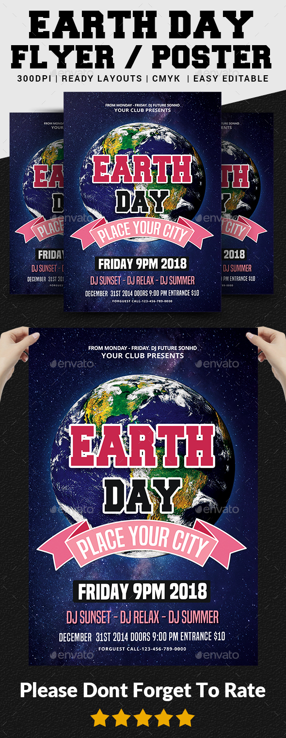 Earth Day Flyer Template - Events Flyers