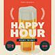 Retro Happy Hour Beer Flyer