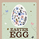 VIntage Floral Easter Egg Flyer - GraphicRiver Item for Sale