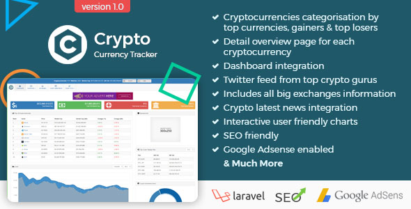 Crypto Currency Tracker - Realtime Prices, Charts, News, ICO's and more - CodeCanyon Item for Sale