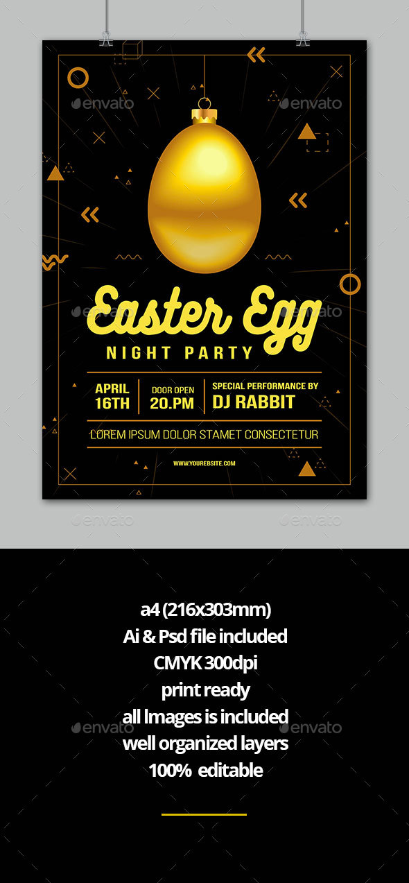 Easter Party - Flyers Print Templates