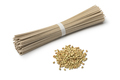 Heap of dried buckwheat seeds and buckwheat noodles - PhotoDune Item for Sale