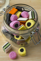 Glass jar with Liquorice allsorts - PhotoDune Item for Sale