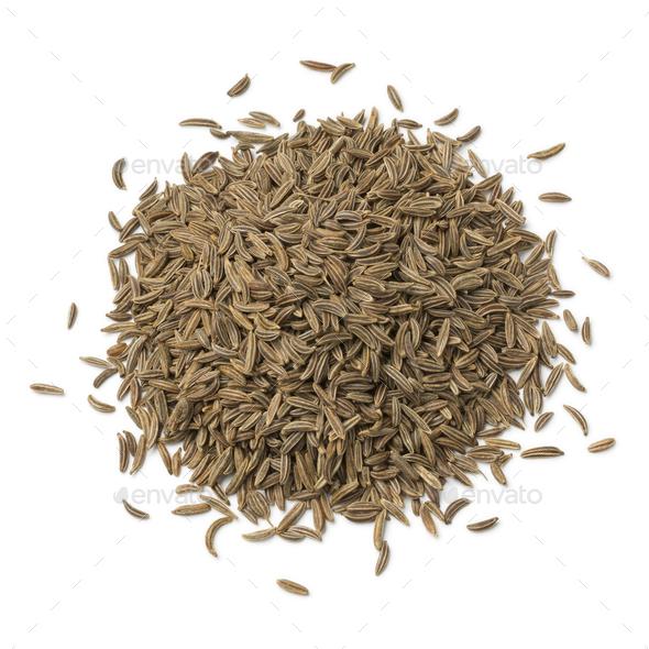 Heap of Caraway seeds - Stock Photo - Images