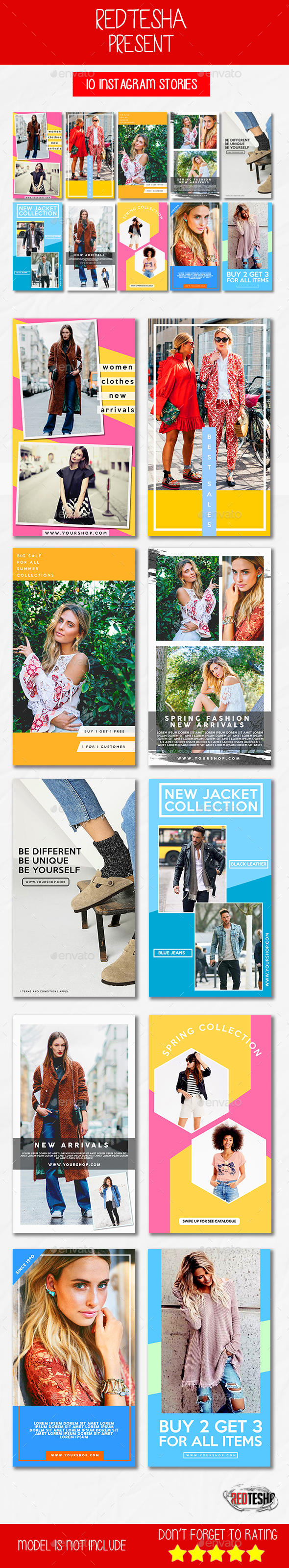 10 Instagram Stories Ads - Banners & Ads Web Elements