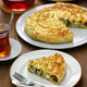 homemade kol borek, turkish rounded pie, spinach and feta cheese - PhotoDune Item for Sale