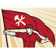 Worker With Flag Vector Illustration - GraphicRiver Item for Sale