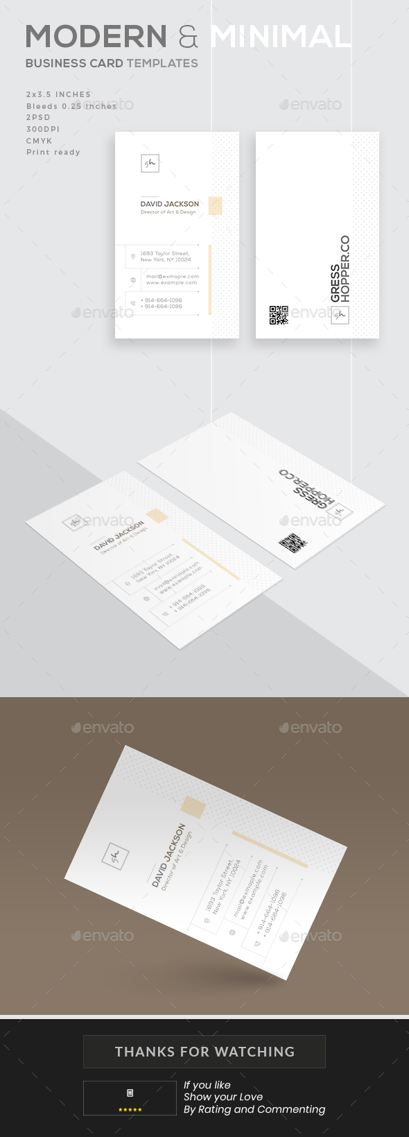 Modern and Minimal Business Card - Business Cards Print Templates