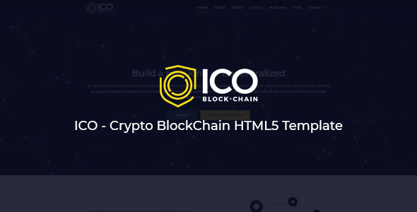 ICO - Crypto BlockChain HTML5 Template - Technology Site Templates