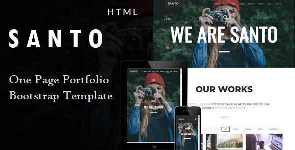 Santo - Responsive One Page Portfolio Template