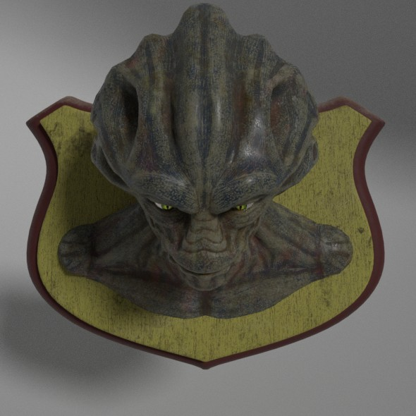 Alien Head Trophy