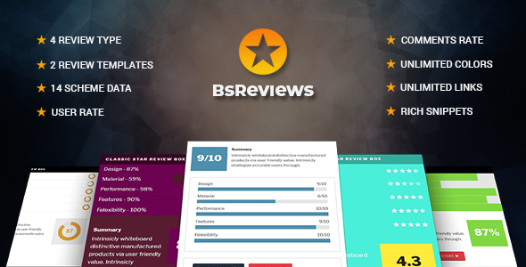 BsReviews - WordPress Posts & Comments Review Plugin - CodeCanyon Item for Sale