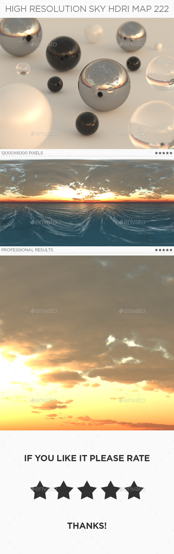 High Resolution Sky HDRi Map 222 - 3DOcean Item for Sale