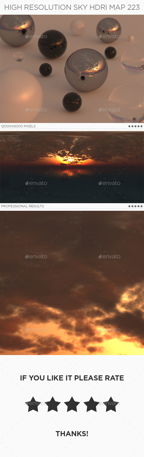High Resolution Sky HDRi Map 223 - 3DOcean Item for Sale