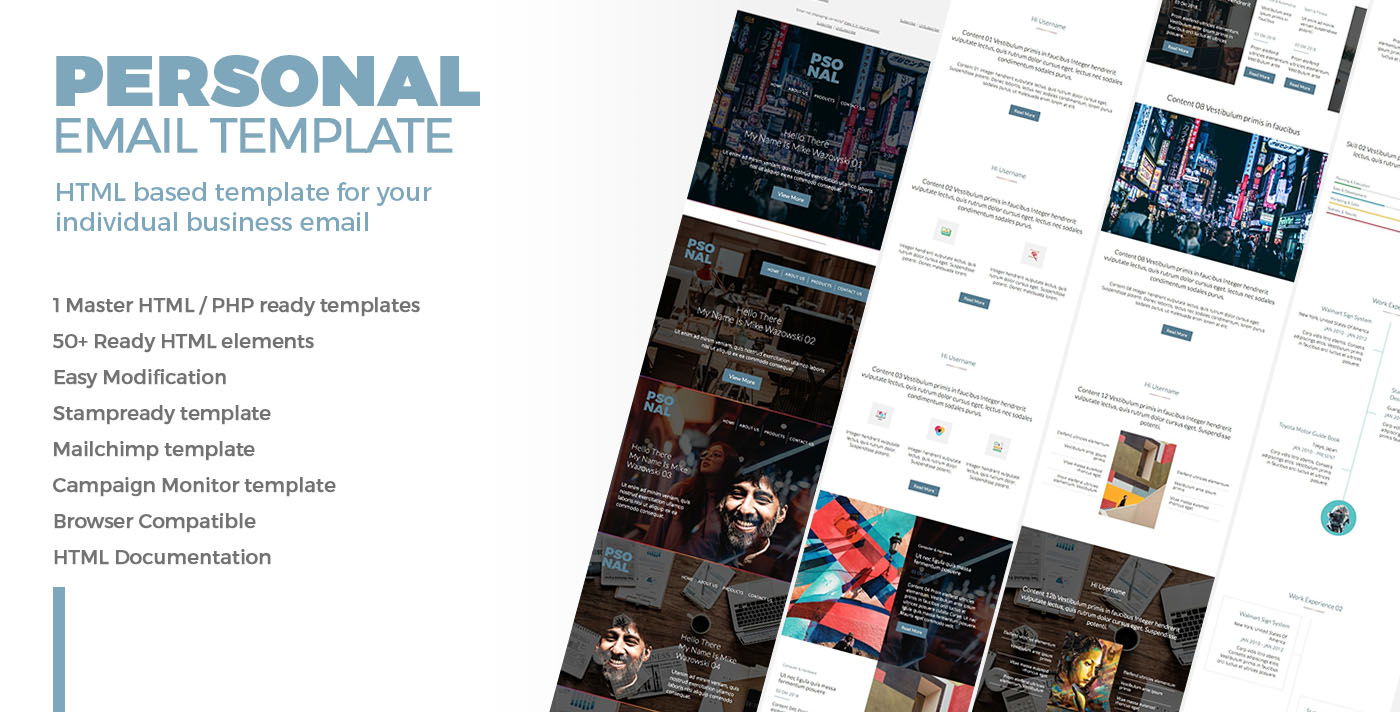 Personal Email Template For Personal Cv By Bnrcreativelab