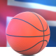 Basketball with Iceland Flag